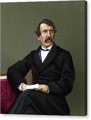 David Livingstone, Scottish Explorer Canvas Print by Maria Platt-evans