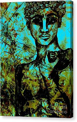 Canvas Print featuring the painting David Ll by Amy Sorrell