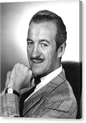 David Niven, 1950s Canvas Print by Everett