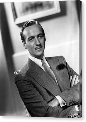 David Niven, Ca. Late 1930s Canvas Print by Everett