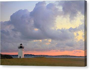 Dawn At Long Point Lighthouse Canvas Print by Roupen  Baker