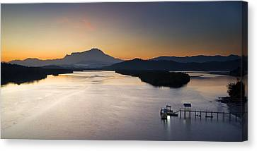Dawn At Mengkabong River Canvas Print by Ng Hock How
