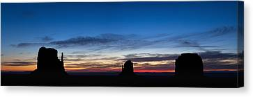 Dawn Breaking Over The Mittens Canvas Print by Andrew Soundarajan