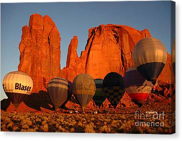 Dawn Flight In Monument Valley Canvas Print by Vivian Christopher