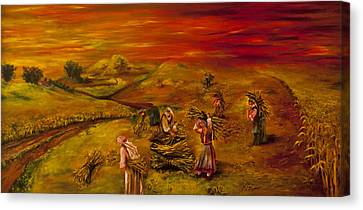 Dawn In The Land That I Love Canvas Print