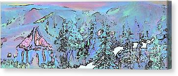 Dawn In The Sapphire Mountains Canvas Print by Deborah Montana