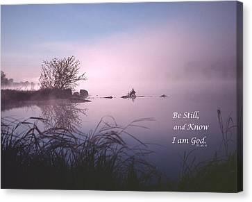 Dawn On The Chippewa River Canvas Print