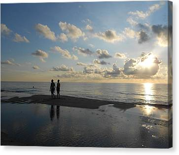 Canvas Print featuring the photograph Dawn by Sheila Silverstein