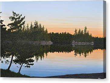 Canoe Canvas Print - Dawns Early Light by Kenneth M  Kirsch