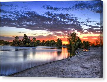 Canvas Print featuring the photograph Day At The Lake by Marta Cavazos-Hernandez