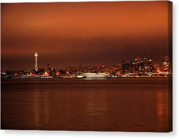 Daybreak Ferry Canvas Print
