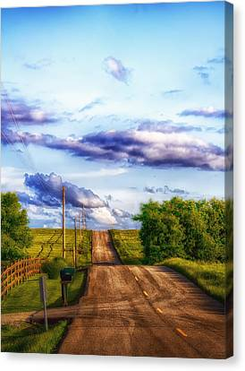 Daylight Fades In New Melle Canvas Print by Bill Tiepelman