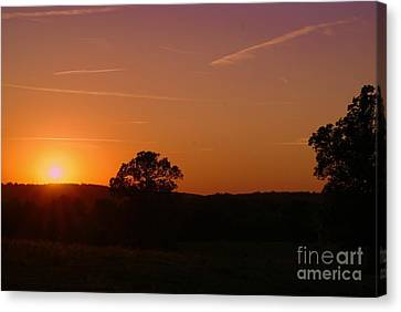 Canvas Print featuring the photograph Day's Final Rays by Julie Clements