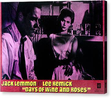Days Of Wine And Roses, Jack Lemmon Canvas Print by Everett