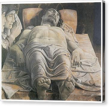 Dead Christ Canvas Print by Andrea Mantegna