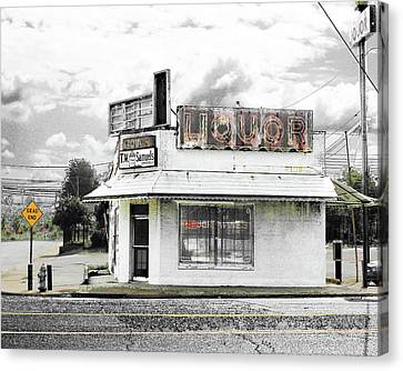 Canvas Print featuring the photograph Dead End by Lizi Beard-Ward
