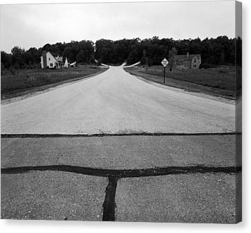 Dead End On Highway C Canvas Print by Jan W Faul