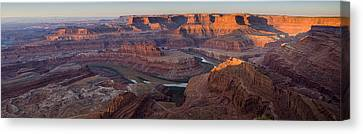Dead Horse Point Panorama Canvas Print by Andrew Soundarajan