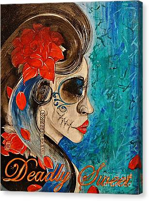 Canvas Print featuring the painting Deadly Sweet by Sandro Ramani