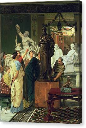 Dealer In Statues  Canvas Print by Sir Lawrence Alma-Tadema