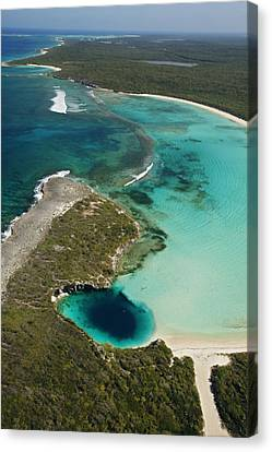 Deans Blue Hole, Earths Deepest Known Canvas Print by Wes C. Skiles