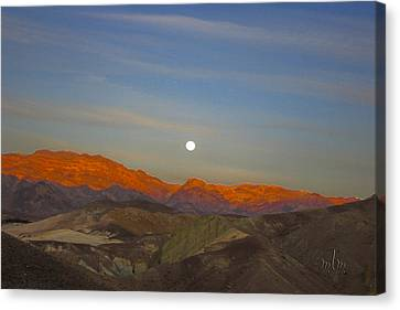 Death Valley Moonrise Canvas Print