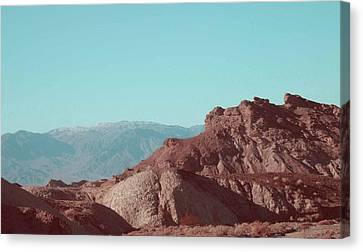 Death Valley Mountains Canvas Print by Naxart Studio
