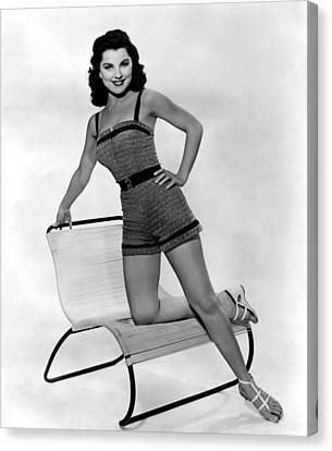 1950s Fashion Canvas Print - Debra Paget, Ca. 1950s by Everett