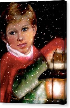 Canvas Print featuring the painting December by Susan Elise Shiebler