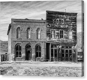 Dechambeau Hotel And Ioof Hall Bodie Ca Canvas Print by Troy Montemayor