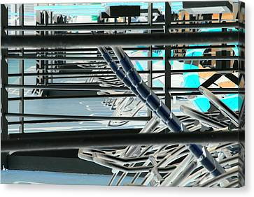 Canvas Print featuring the photograph Deck Chairs by John Schneider