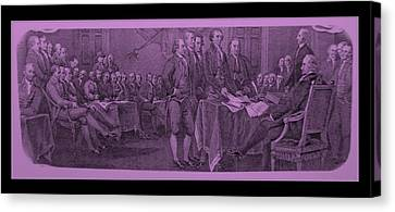 Declaration Of Independence In Pink Canvas Print by Rob Hans
