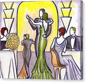 Deco Nightclub Canvas Print by Mel Thompson