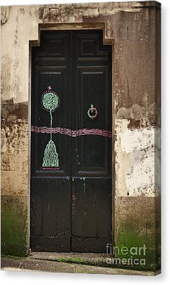 Decorated Door Canvas Print by Mary Machare