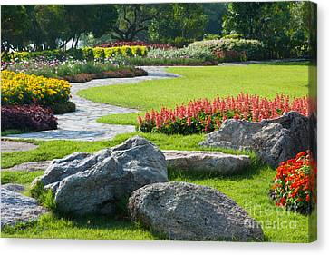Decoration In Park Canvas Print by Atiketta Sangasaeng
