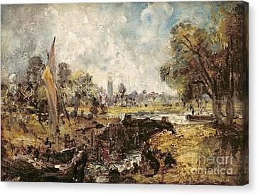 Dedham Lock Canvas Print
