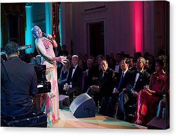 Dee Dee Bridgewater Performs Canvas Print by Everett