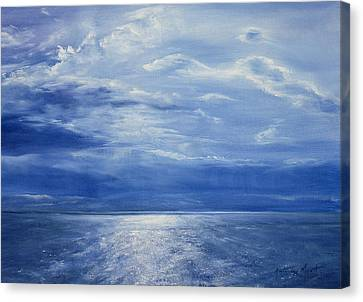 Deep Blue Sea Canvas Print by Antonia Myatt