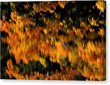 Deep Fall Reflections Canvas Print by LeeAnn McLaneGoetz McLaneGoetzStudioLLCcom