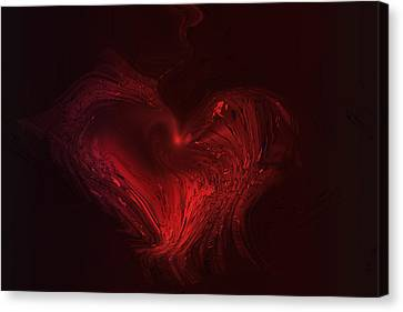 Deep Hearted Canvas Print by Linda Sannuti