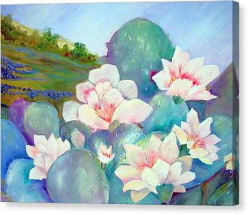 Canvas Print featuring the painting Deep In The Heart Of Texas by AnnE Dentler