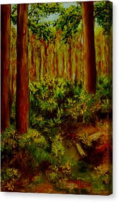 Deep In The Pines Canvas Print by Annie St Martin