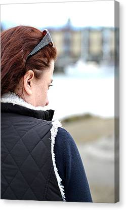 Deep In Thought Canvas Print by Angel Chovanec