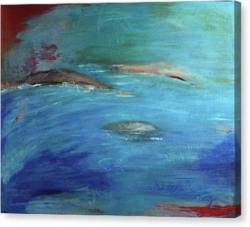 Canvas Print featuring the painting Deep Waters by Jan Swaren