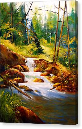 Deep Woods Beauty Canvas Print by Robert Carver