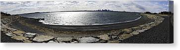 Island Stays Canvas Print - Deer Island Pano by Andrew Kubica