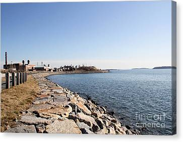 Deer Island Trail Canvas Print by Extrospection Art