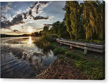 Canvas Print featuring the photograph Deer Lake Boardwalk by Scott Holmes