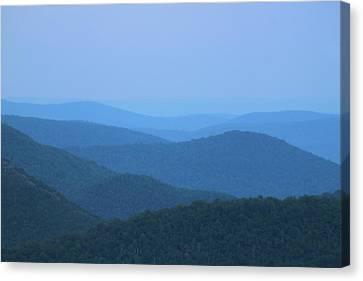 Deerfield River Valley Mist Berkshires Canvas Print by John Burk