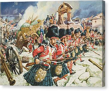 Defence Of Corunna Canvas Print by C L Doughty
